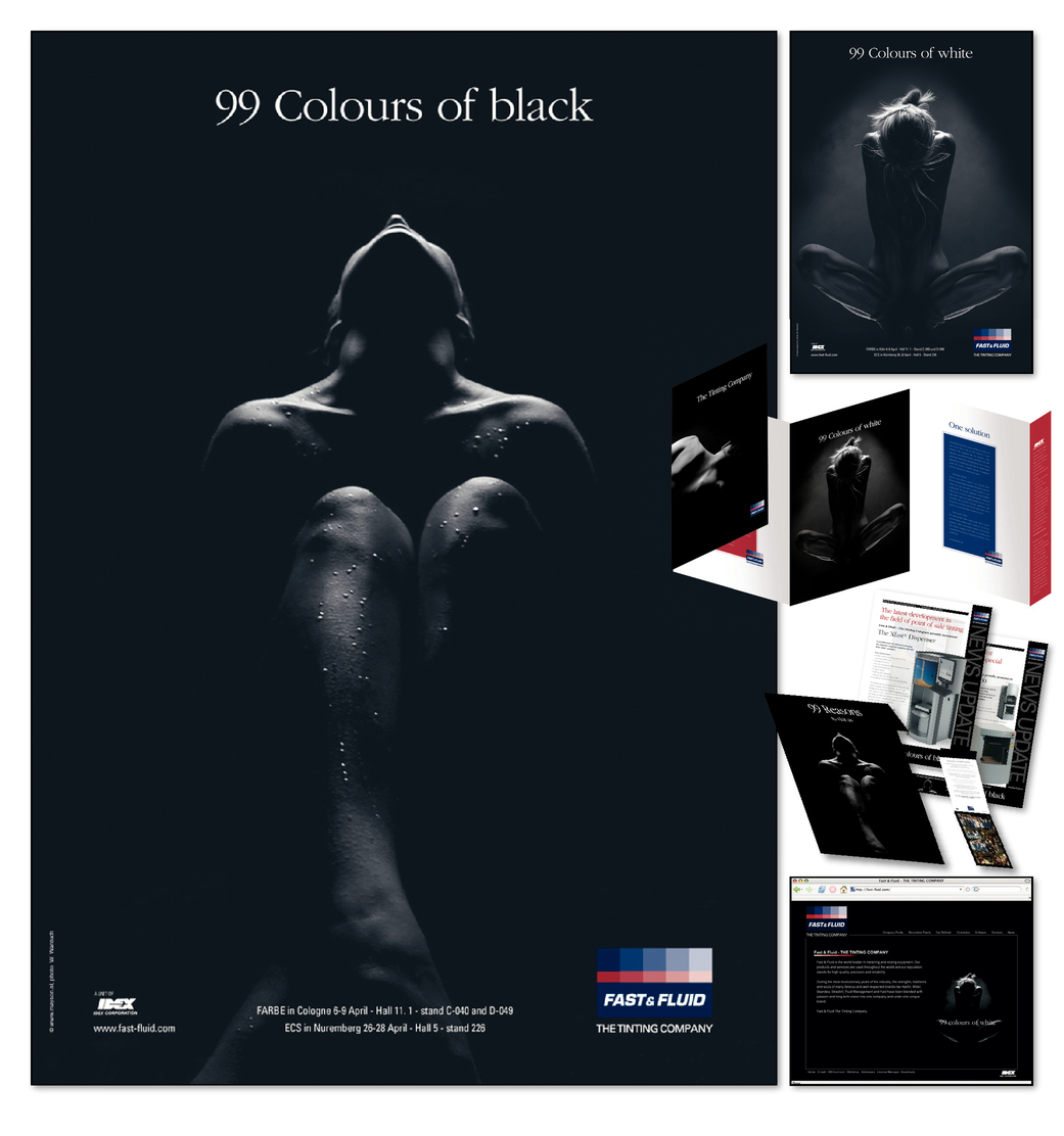 99 COLOURS OF BLACK, 99 COLOURS OF WHITE. ONE BRAND, ONE SOLUTION