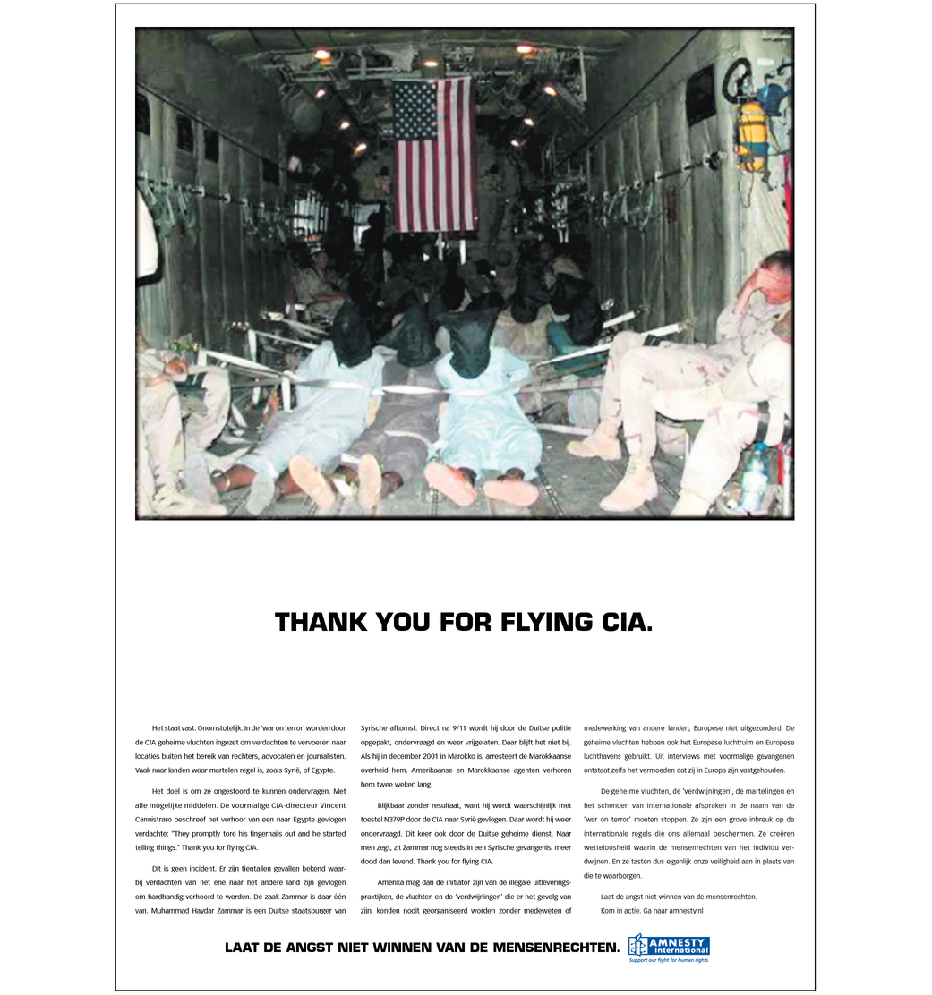 Thank you for flying CIA