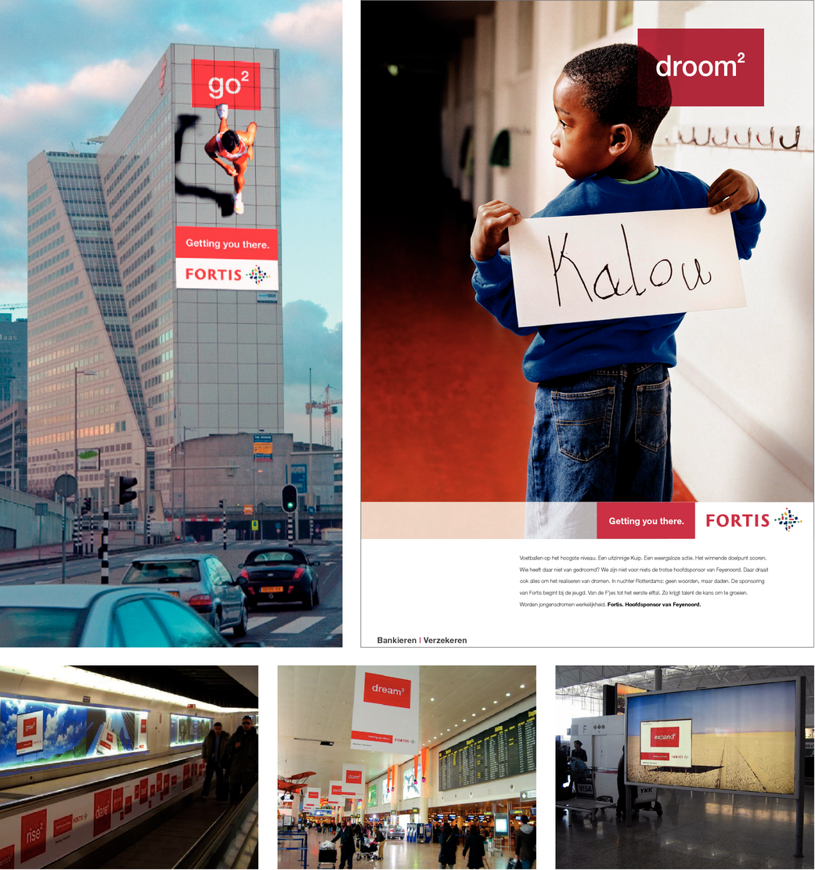 Wereldwijde merkcampagne Fortis: 'Getting you there'