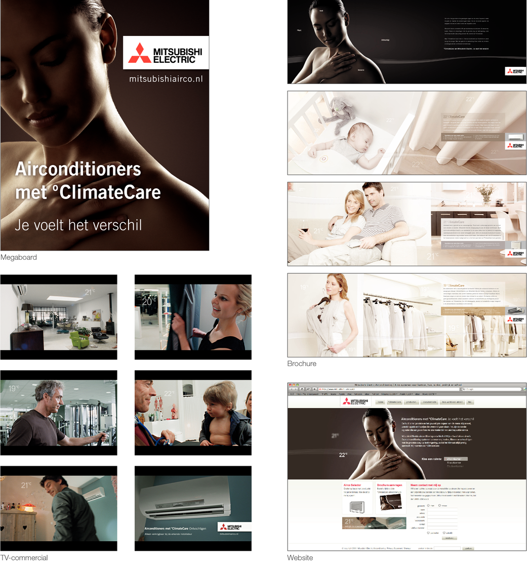 AIRCONDITIONERS MET °CLIMATECARE VAN MITSUBISHI ELECTRIC