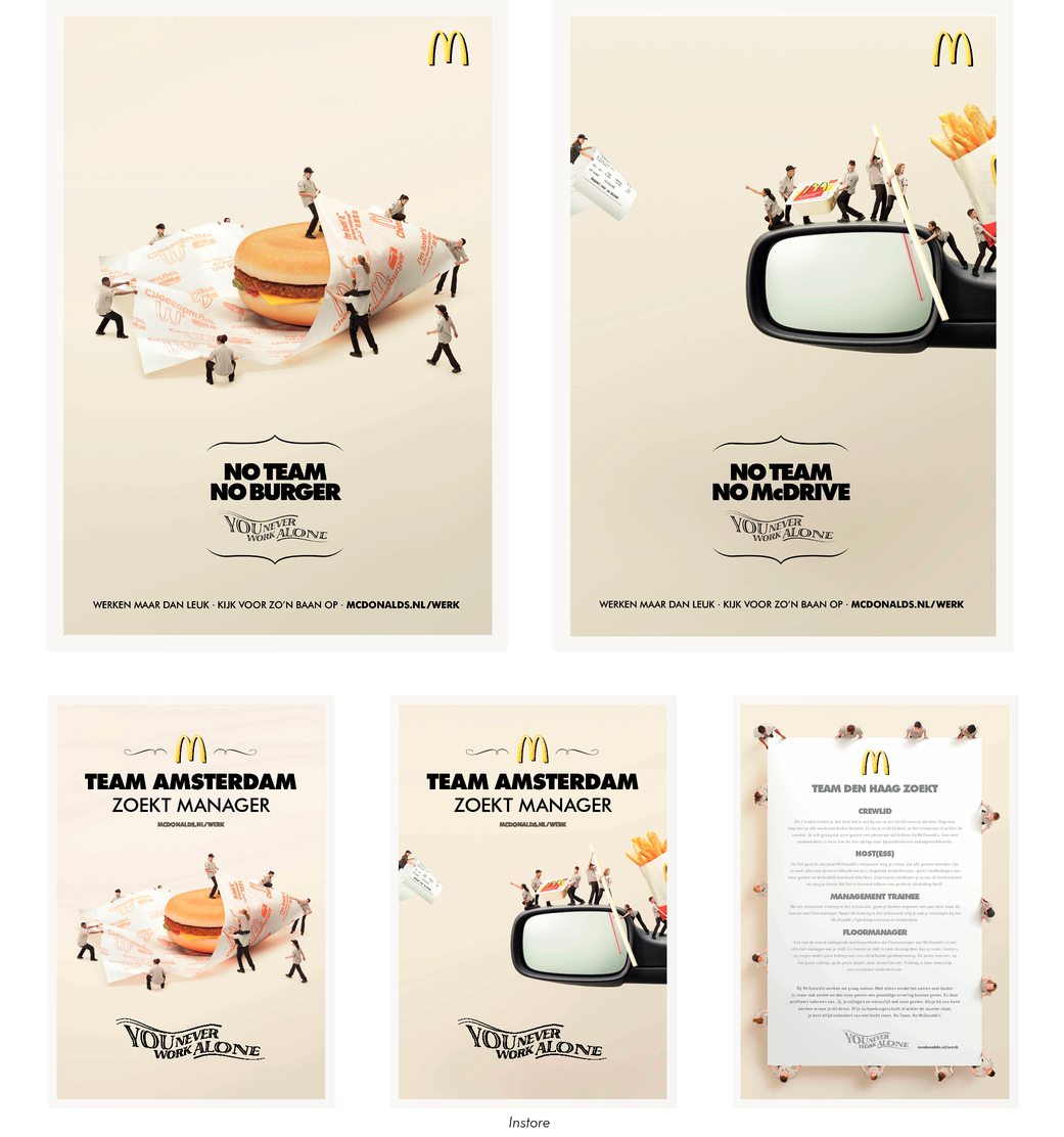 MCDONALD'S - YOU NEVER WORK ALONE