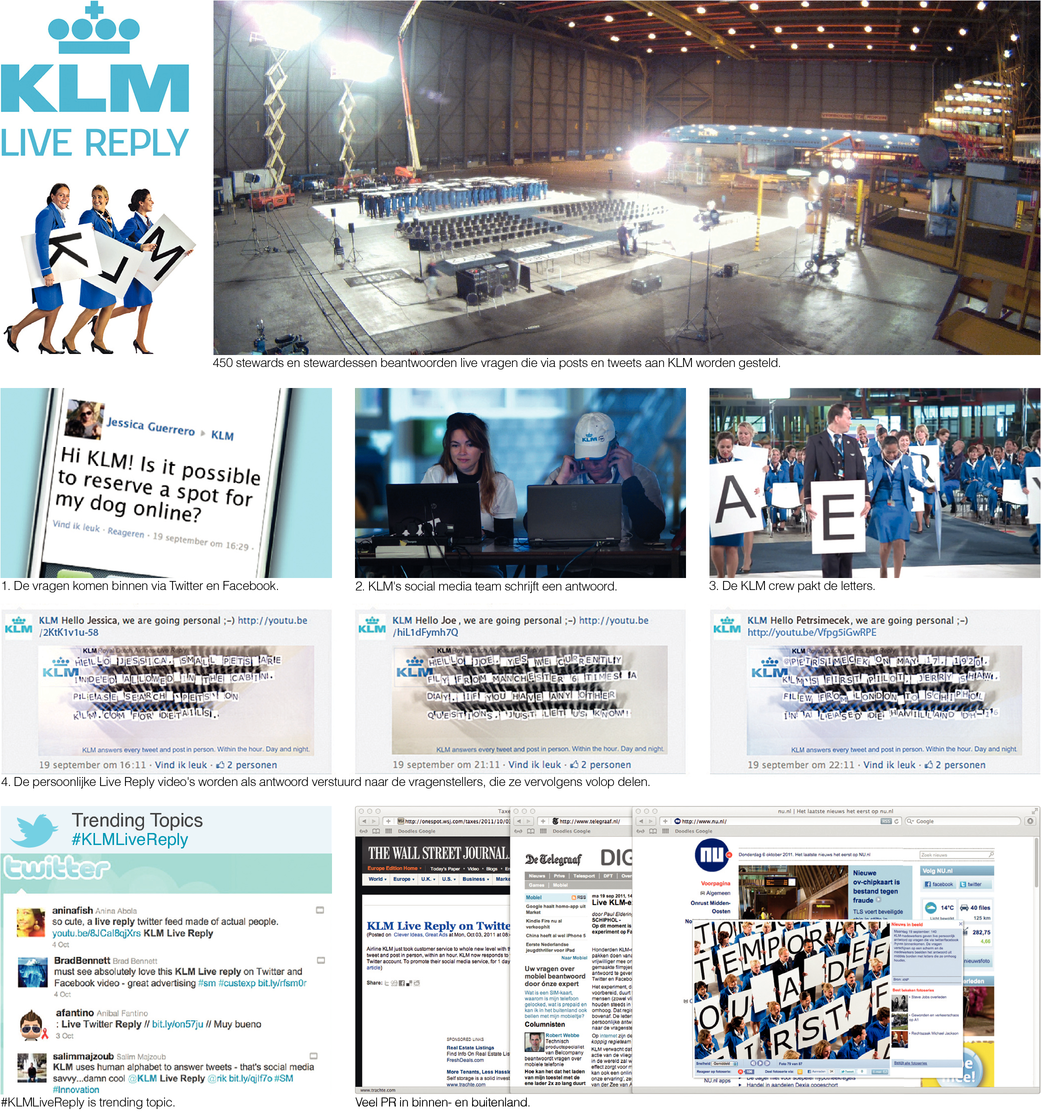 KLM Live Reply