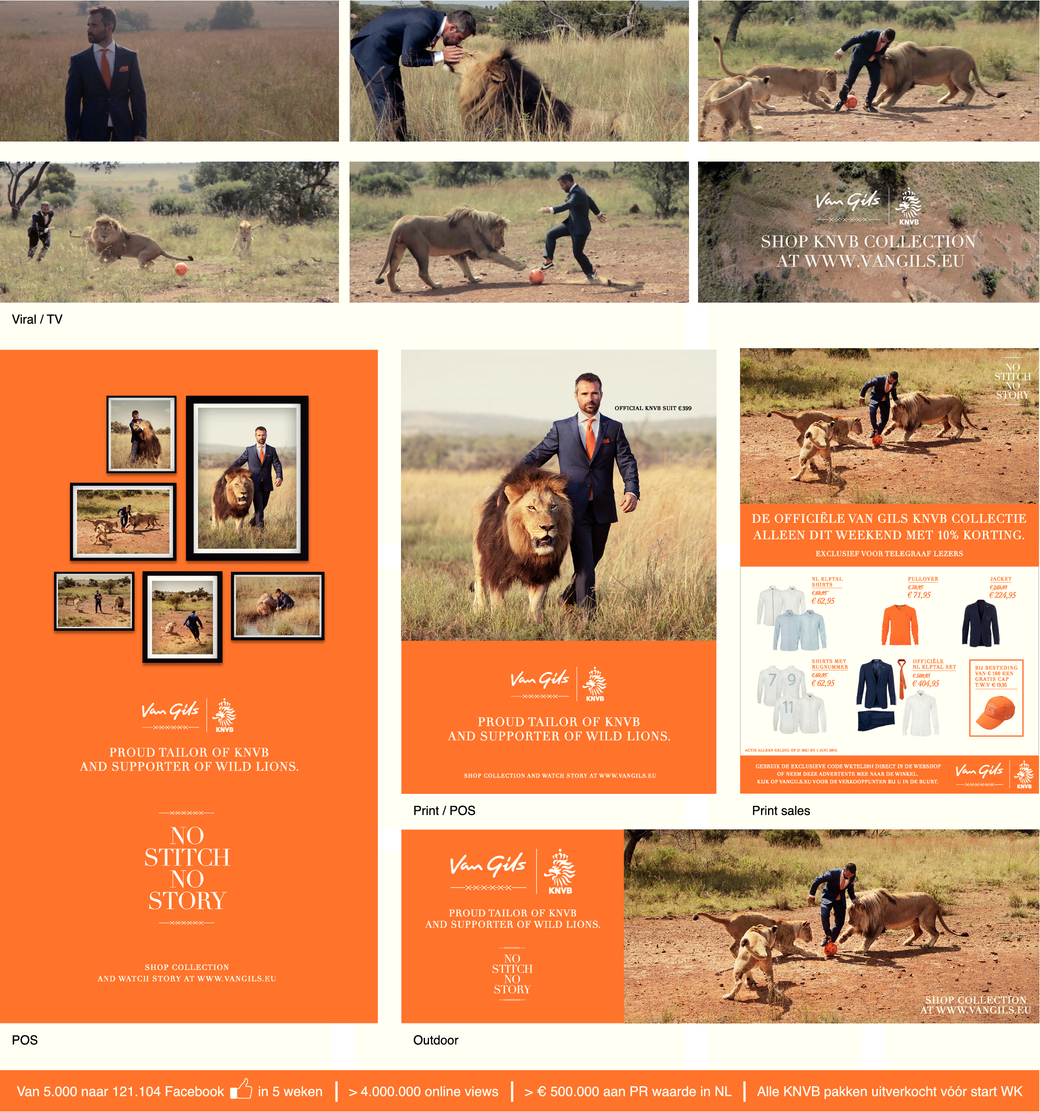 Van Gils proud tailor KNVB and supporter of wild lions