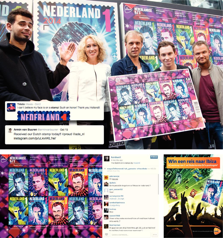 Postzegeluitgifte Nederlandse DJ's