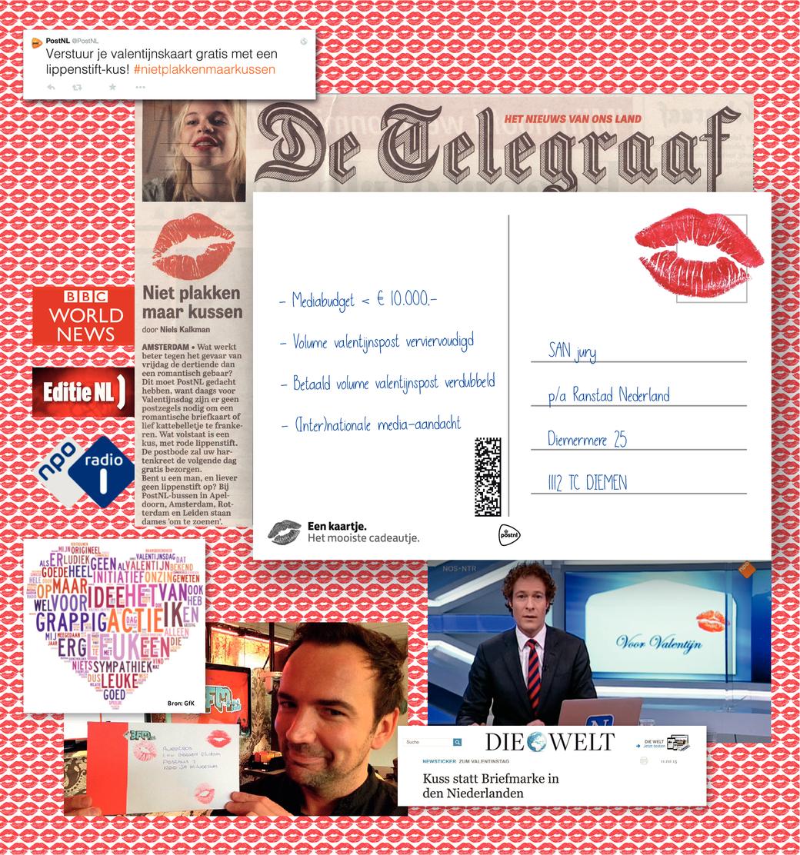 De Valentijnskus van PostNL