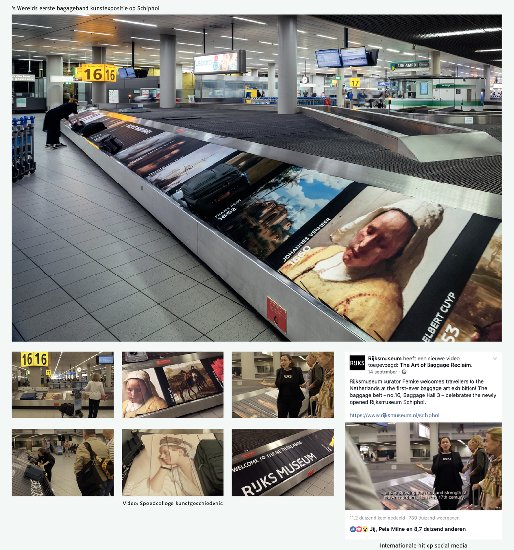 The first Baggage Carousel Art Exhibition ever