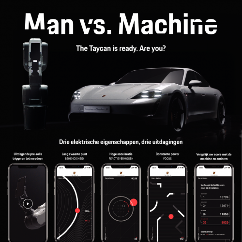 Porsche Taycan - Man vs. Machine