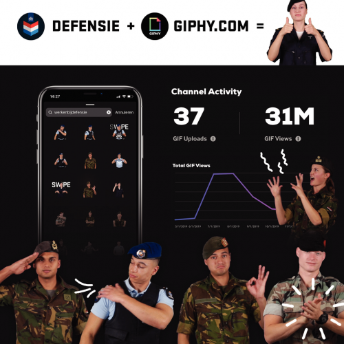 Defensie GIF-stickers